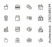 lunch line icon set. morning...   Shutterstock .eps vector #1582188199