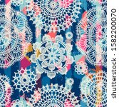 seamless pattern in vintage... | Shutterstock .eps vector #1582200070