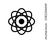 molecule outline icon isolated. ...