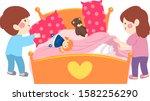 illustration of kids making... | Shutterstock .eps vector #1582256290