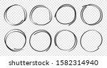 hand drawn circles sketch frame ... | Shutterstock .eps vector #1582314940