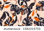modern exotic jungle plants... | Shutterstock .eps vector #1582315753