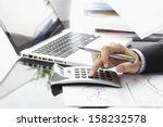 close up photo of a businessman ... | Shutterstock . vector #158232578
