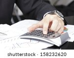 close up photo of a businessman ... | Shutterstock . vector #158232620