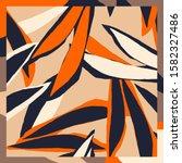trendy scarf print. creative... | Shutterstock .eps vector #1582327486