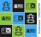 set line hiking backpack ...   Shutterstock .eps vector #1582330789