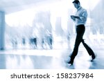 lobby in the rush hour is made... | Shutterstock . vector #158237984
