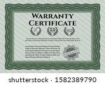green warranty template....   Shutterstock .eps vector #1582389790