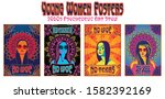 young women posters ... | Shutterstock .eps vector #1582392169