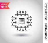 processor vector icon. cpu...