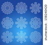 snowflakes | Shutterstock .eps vector #158240420