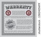 grey vintage warranty template. ...   Shutterstock .eps vector #1582405699