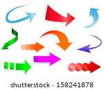 paper arrows in the shape of... | Shutterstock .eps vector #158241878