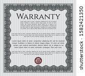 grey retro vintage warranty...   Shutterstock .eps vector #1582421350