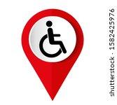disabled sign on white... | Shutterstock .eps vector #1582425976