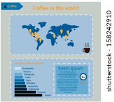 coffee infographics set | Shutterstock .eps vector #158242910