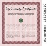 red retro warranty template....   Shutterstock .eps vector #1582436110