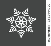 snowflake icon isolated on...