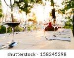 Wineglasses On Prepared Table...