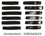 calligraphy paint wide brush... | Shutterstock .eps vector #1582463623