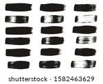 calligraphy paint wide brush... | Shutterstock .eps vector #1582463629