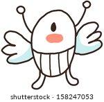 vector illustration of an alien | Shutterstock .eps vector #158247053