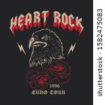 heart rock euro tour 96 fake... | Shutterstock .eps vector #1582475083