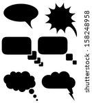 Set Icons Speech Bubbles Dream...