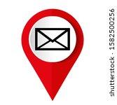 envelope icon . mail symbol for ... | Shutterstock .eps vector #1582500256