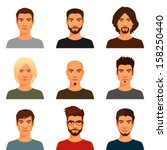 adult,attractive,avatar,beard,boy,casual,character,clip art,collection,cool,dude,face,facial hair,glasses,goatee