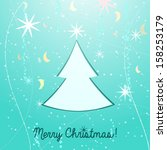 christmas tree vector... | Shutterstock .eps vector #158253179