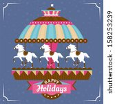 Greeting Card With Carousel...