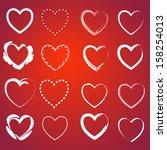 heart icons set. infinite love... | Shutterstock .eps vector #158254013