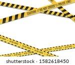 police lines. crime scene.... | Shutterstock .eps vector #1582618450