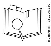 open book vector icon.line...