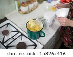 in the polish kitchen.... | Shutterstock . vector #158265416