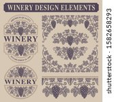 set of vintage design elements... | Shutterstock .eps vector #1582658293