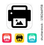 photo print icon. vector...