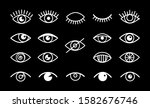 different eyes signs. white... | Shutterstock .eps vector #1582676746