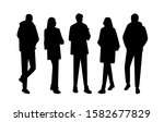 vector silhouettes of  men and... | Shutterstock .eps vector #1582677829