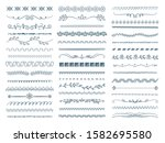 sketch dividers. stripped lines ... | Shutterstock .eps vector #1582695580