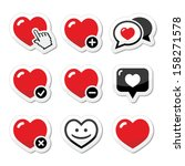 heart  love vector icons set   Shutterstock .eps vector #158271578