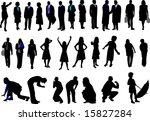 30 black people | Shutterstock .eps vector #15827284