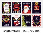 set of colorful christmas cards.... | Shutterstock .eps vector #1582729186
