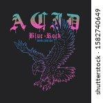 acid blue rock dripping... | Shutterstock .eps vector #1582740649