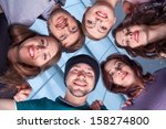 rear view of group of people....   Shutterstock . vector #158274800
