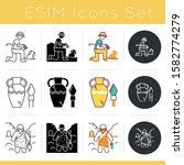 Archeology Icons Set....