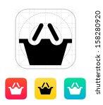 shopping basket icon. vector...