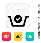 shopping basket check icon....