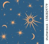 seamless pattern with suns ...   Shutterstock .eps vector #1582829779